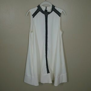RACHEL Rachel Roy Sleeveless Swing Dress Large